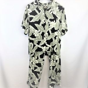 Tommy Bahama Womens Pant Suit Top XS Pants 6